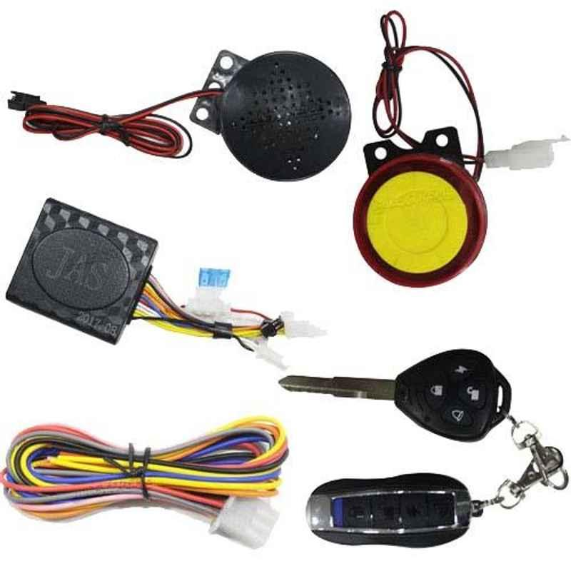 AllExtreme EXDBRH1 Double Buzzer Anti Theft Security Alarm System with Dual Remote Control Engine Start