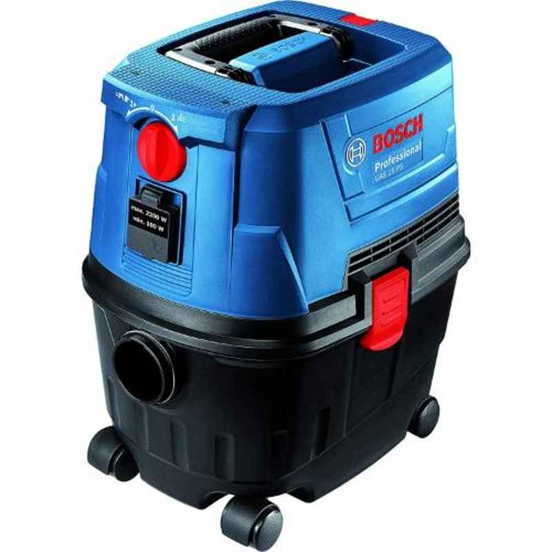 Bosch GAS15 1100W Professional PS Wet & Dry Heavy Duty Extractor Vacuum Cleaner, 06019E51K0
