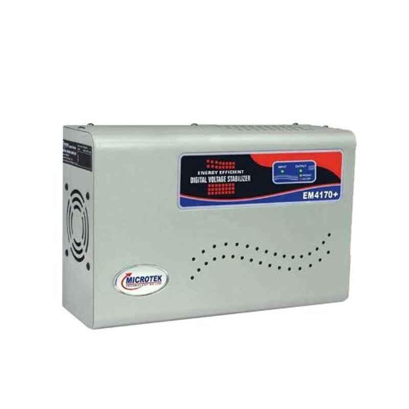 Microtek EM 4170+ 170-280V Digital AC Voltage Stabilizer for Upto 1.5 Ton AC with 3 Years Warranty
