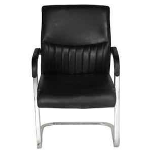 High Living Vesta Leatherette Medium Back Black Office Chair