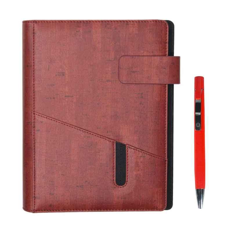 Stolt Whiz PU Leather Maroon Cover Business Diary with Pen