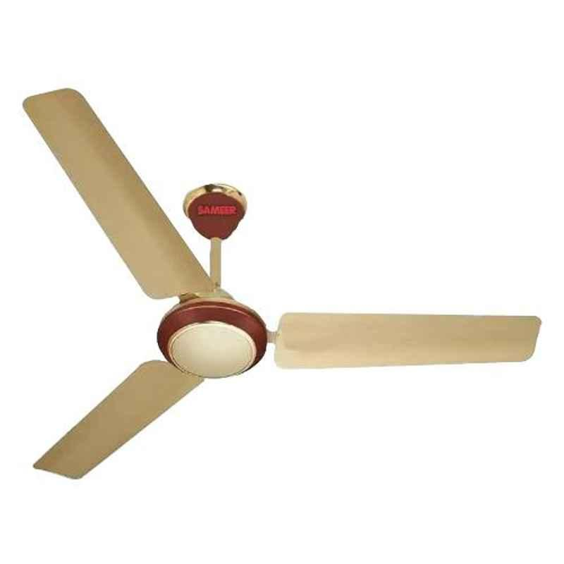Sameer 50W Golden Brown Fusion Ceiling Fan, Sweep 1200 mm