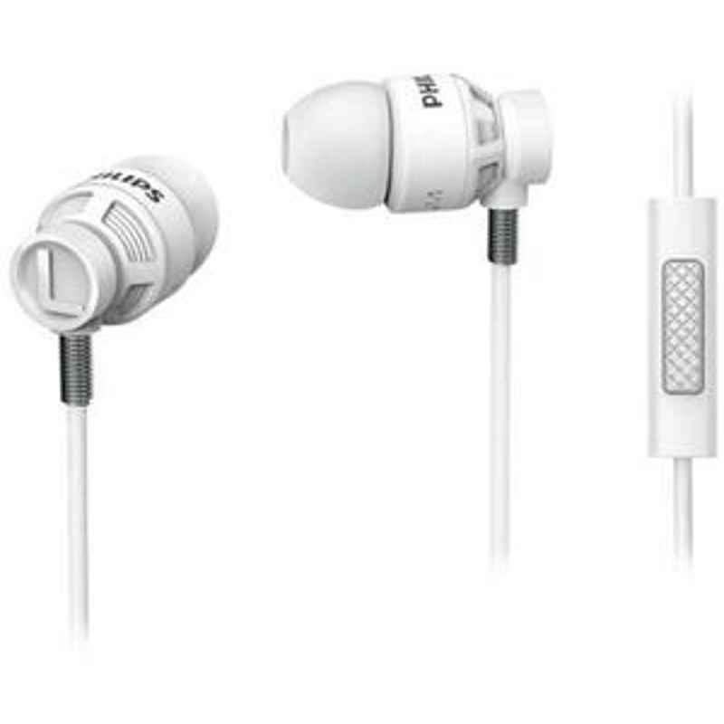 Philips White In Ear Headphones With Mic SHE5205WT