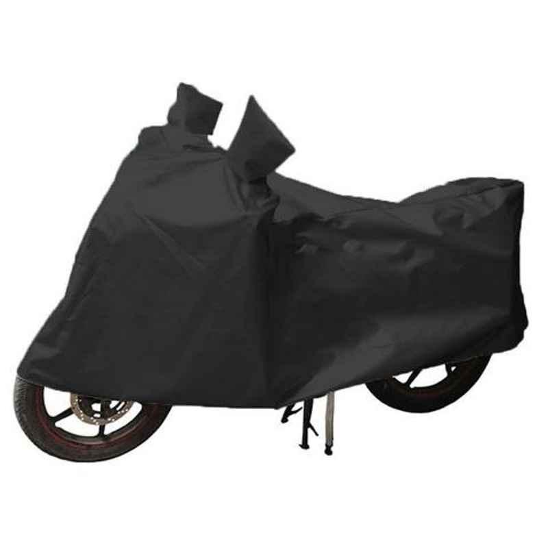Uncle Paddy Black Two Wheeler Cover for Honda Dream Yuga