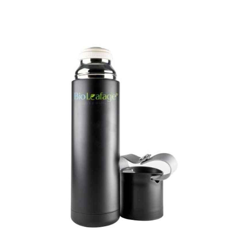Bio Leafage 500ml Black Stainless Steel Flask Water Bottle, BLWBB003-500ML
