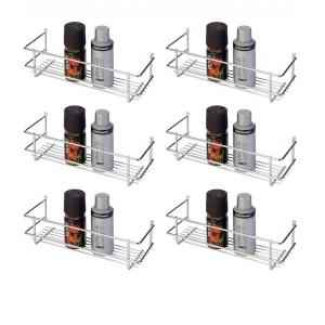 Abyss ABDY-0120 Chrome Finish Stainless Steel Bottle Rack (Pack of 6)