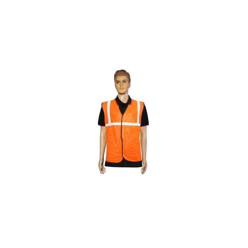 Kasa Life 1 Inch Cloth Type Orange Reflective Safety jacket, KL-1CO