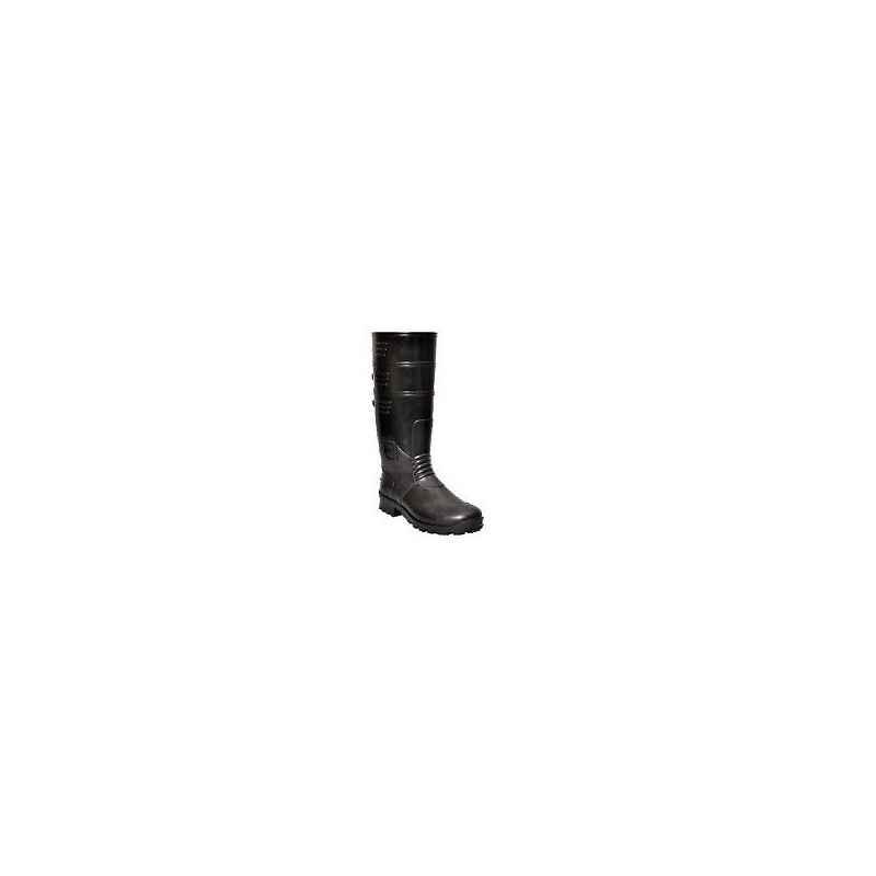 Hillson Torpedo 216 Steel Toe Black Gumboots, Size: 10