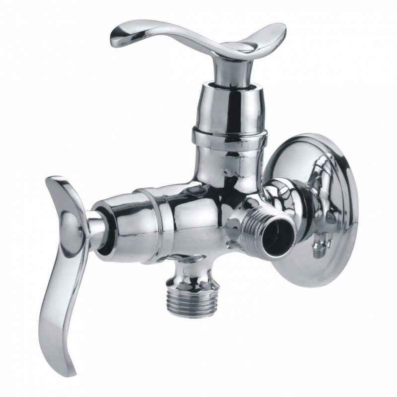 Riva Chrome Plated 2-in-1 Angle Valve with Flange, LC24