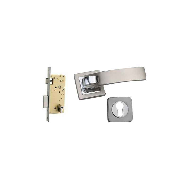 Plaza Bravo Rose SS Finish 250mm Pin Cylinder Mortice Lock with Handle & 3 Keys