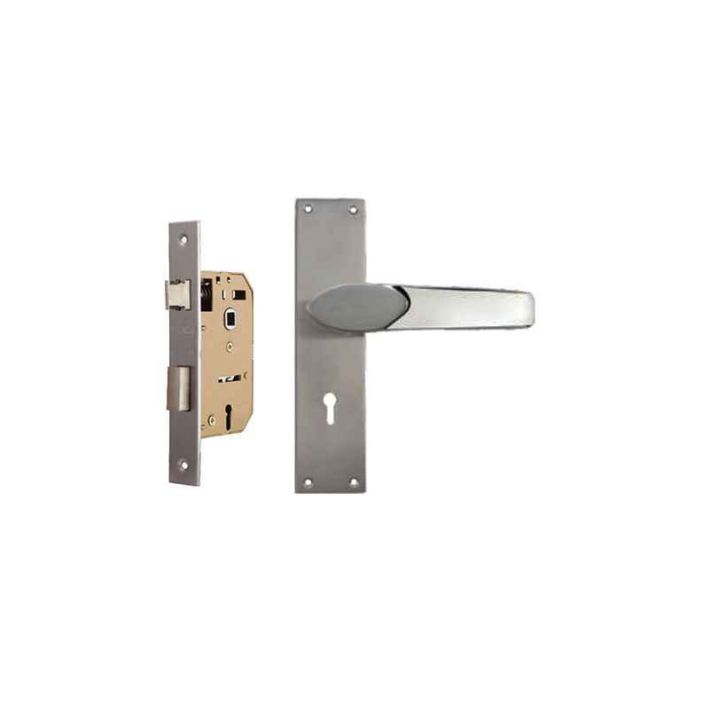 Plaza Verna 65mm Mortice Lock with Stainless Steel Handle & 3 Keys