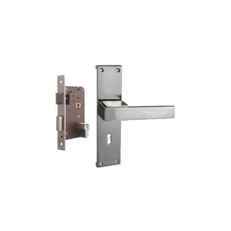 Plaza Aspire Stainless Steel Finish Handle with 200mm Pin Cylinder Mortice Lock & 3 Keys