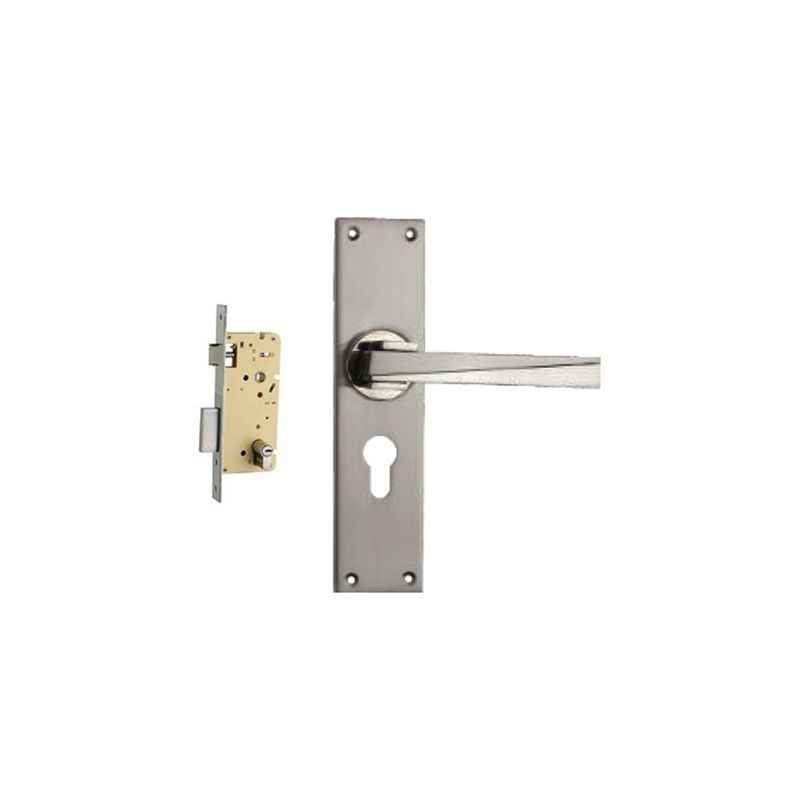 Plaza Camry Stainless Steel Finish Handle with 250mm Pin Cylinder Mortice Lock & 3 Keys