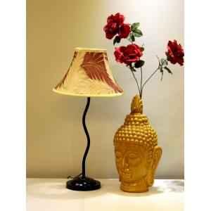 Tucasa Table Lamp with Polysilk Shade, LG-242, Weight: 600 g