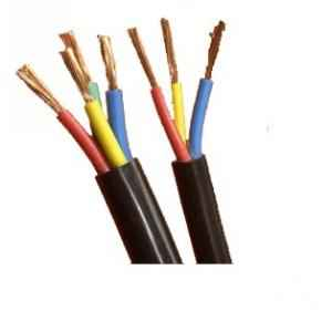 BCI 100 m PVC Insulated and PVC Sheathed Copper Round Flexible Cable 2 Core, Size: 10 sq mm
