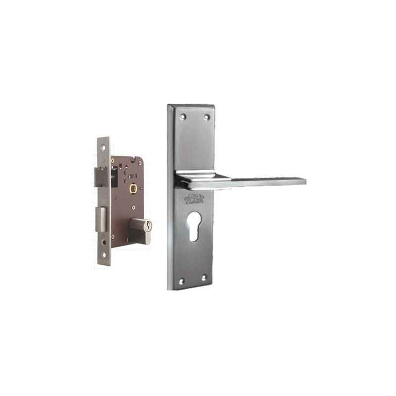 Plaza Mustang Stainless Steel Finish Handle with 200mm Pin Cylinder Mortice Lock & 3 Keys