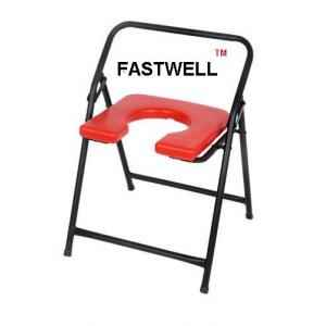 Shakuntla Fastwell Commode Folding Stool with Front Open Heavy Made