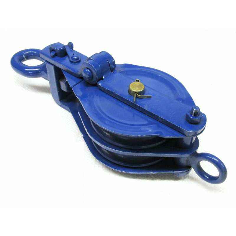 Kepro 3 Ton Double Sheave Wire Rope Pulley Block, KWRP208030