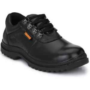 Timberwood TW12 Genuine Leather Steel Toe Black Safety Shoes, Size: 9