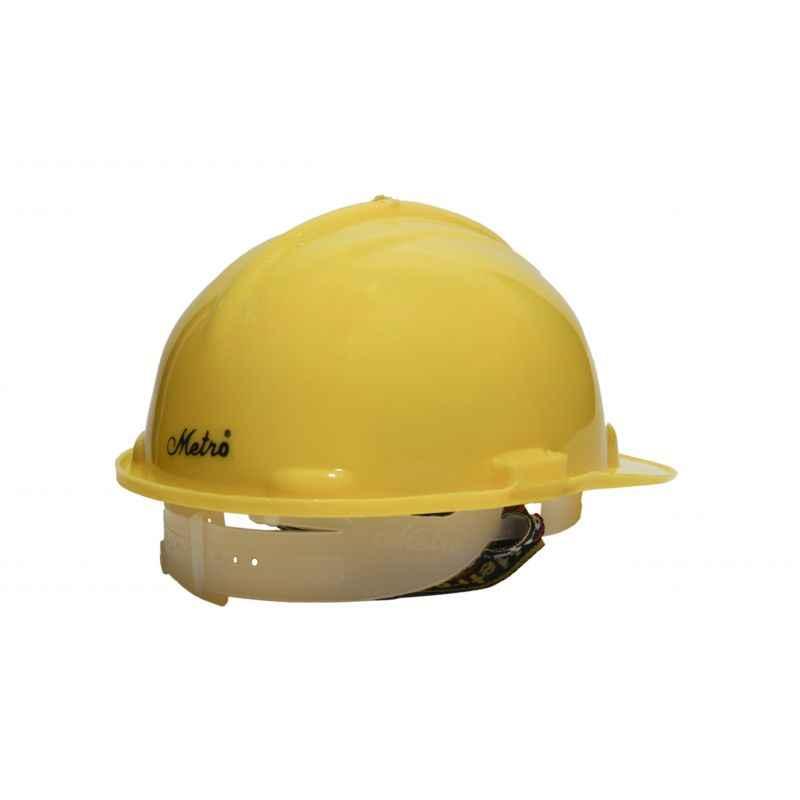 Metro HDPE Nape Type Safety Yellow Helmet