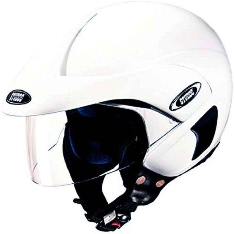 Studds Marshal Motorbike White Open Face Helmet, Size (Large, 580 mm)