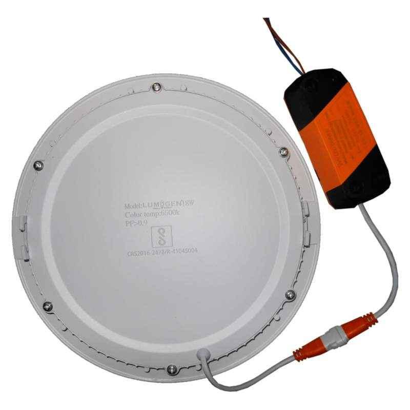 LumoGen 18W Round Warm White Slim LED Panel Light