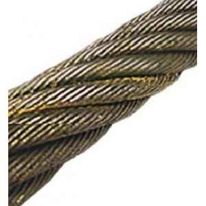 Mahadev 10mm WSC Ungalvanised Steel Wire Rope, Size 17x7, Length: 1000 m