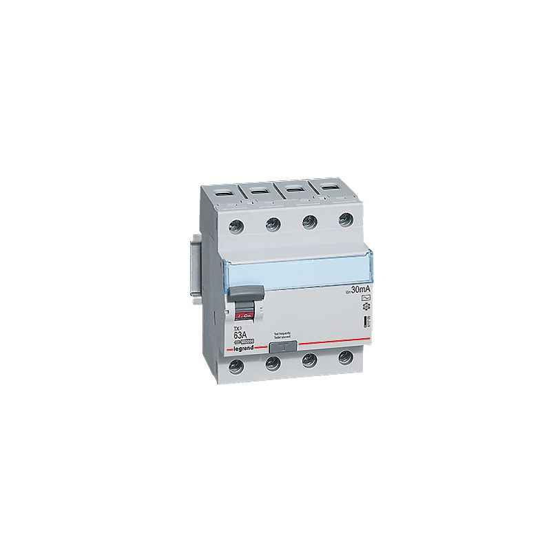 Legrand 63A DX³ 4 Pole RCCBs for AC Applications, 4118 78