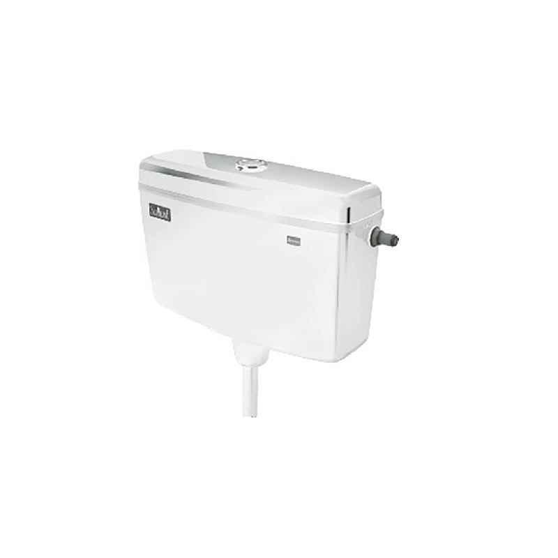 Parryware Slimline Dual Flush Plastic Cistern, E8109 Economy, Neutral