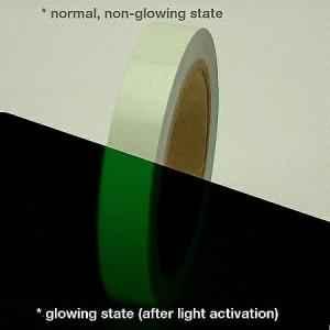 Clickforsign 1 Inch Glow In The Dark Night Vinyl Safety Tape, 10 feet
