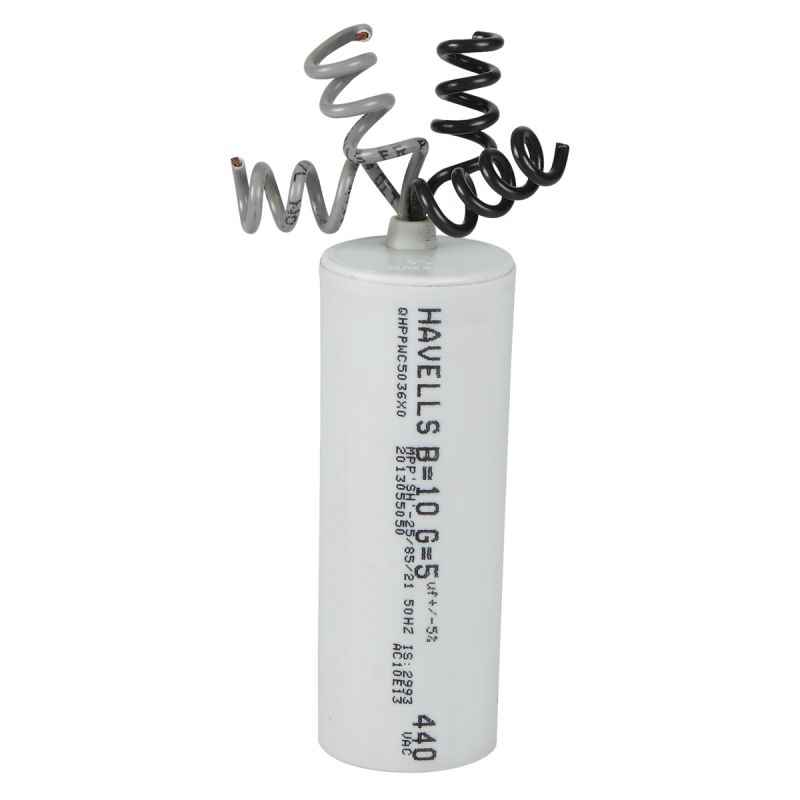 Havells 10+5µF Washing Machine Capacitor, QHPHWC510005 (Pack of 25)