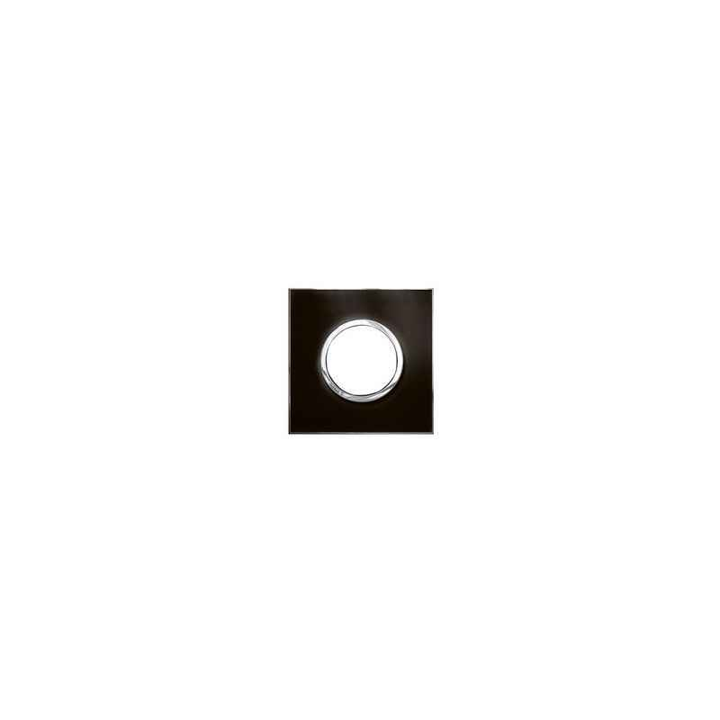 Legrand Arteor 2 Module Mirror Finish Taupe Round Cover Plate With Frame, 5763 05