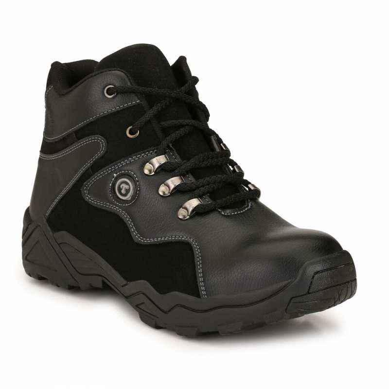 Timberwood TW24BK Steel Toe Black Safety Shoes, Size: 7
