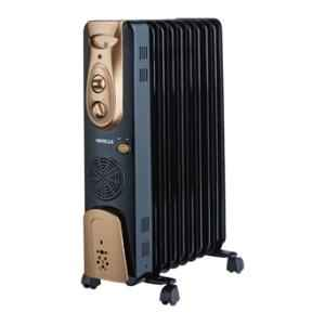 Havells OFR 2400W Black 9 Fin Oil Filled Radiator with Fan