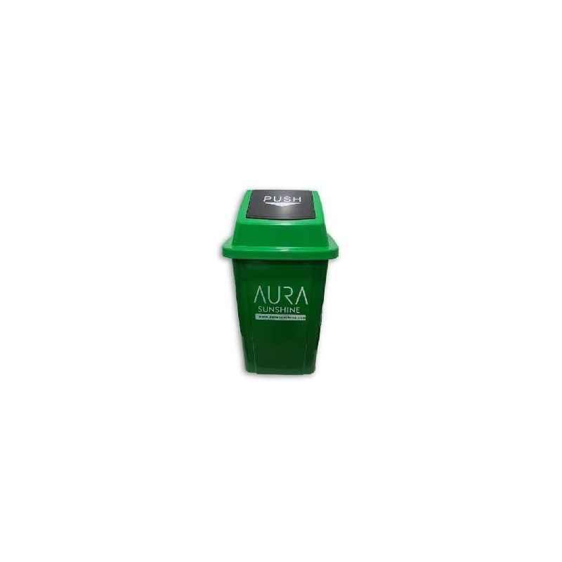 Aura Sunshine 100 Litre Green Plastic Swing Dustbin, AURA 100 SW