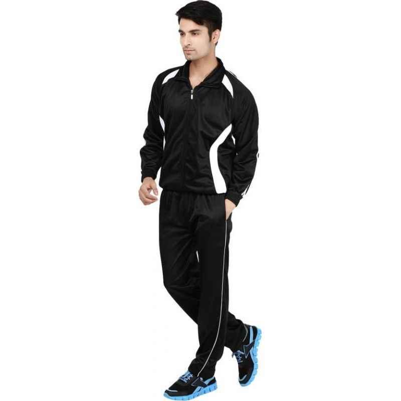 VDG T030 Black Sportswear Tracksuit, Size: 46