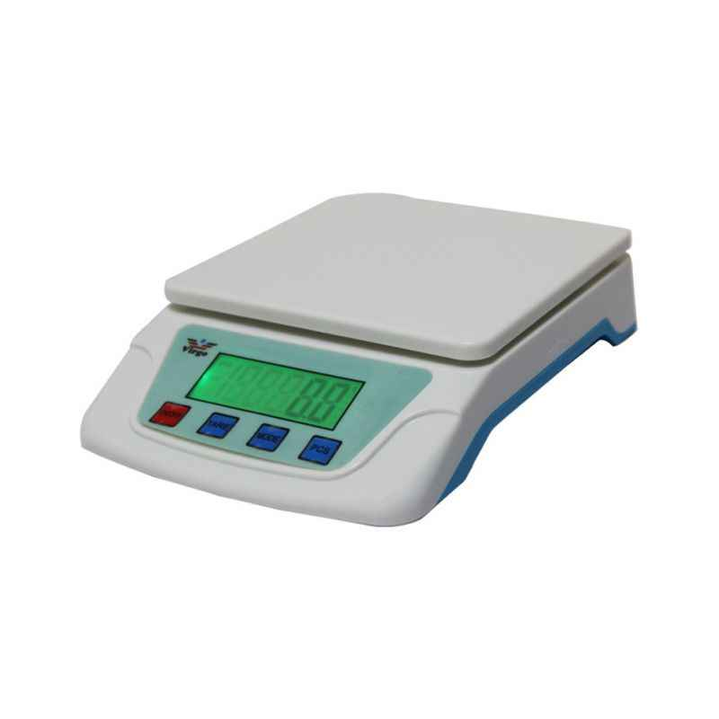 Virgo TS-200 White Digital Jewelry & Kitchen Weighing scale, Capacity: 6 kg