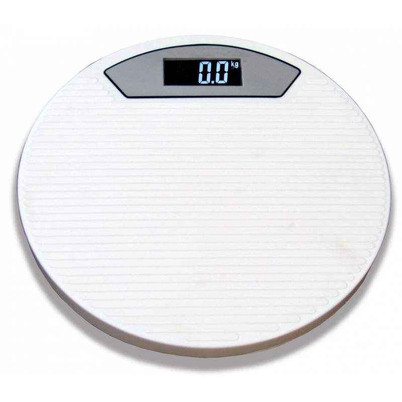 Weightrolux Digital Display Body Weighing Scale, ABS-Round-White