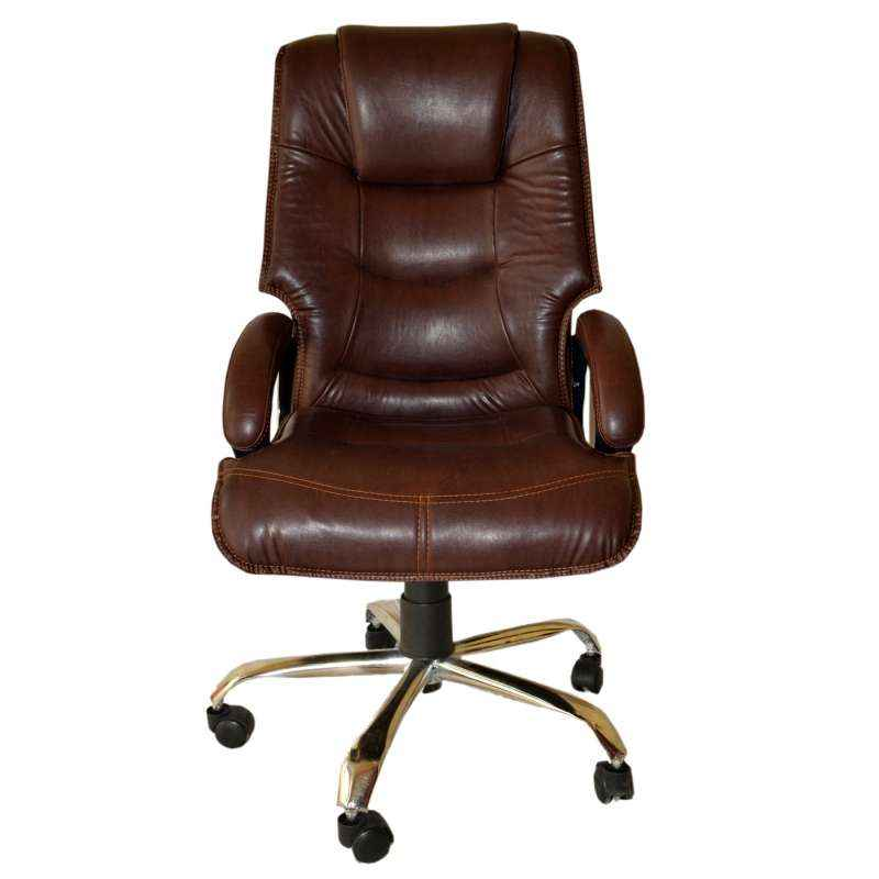 Mezonite Brown High Back Leatherette Office Chair