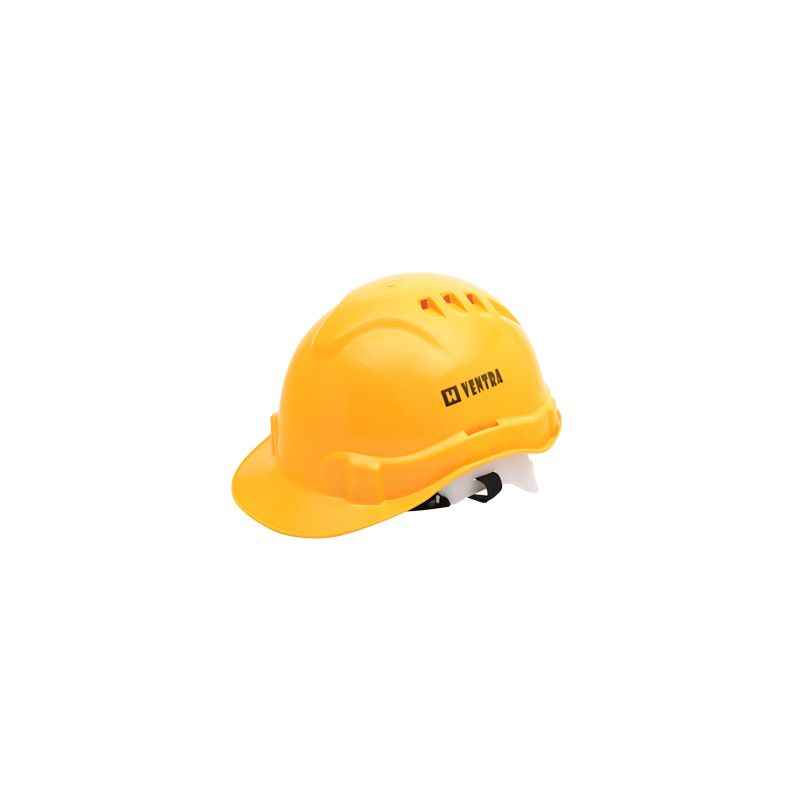 Heapro Yellow Ratchet Type Safety Helmet, VR-0011 (Pack of 10)