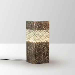 Height of Design Golden and Blue Geometric Shaped Pillar Lamp, HODTL51