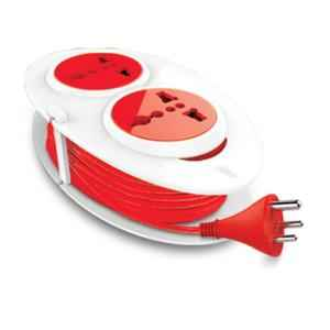 GM 3207 G-On Mini 3 Pin 1.5m Extension Cord with Indicator, Safety Shutter & 2 International Sockets