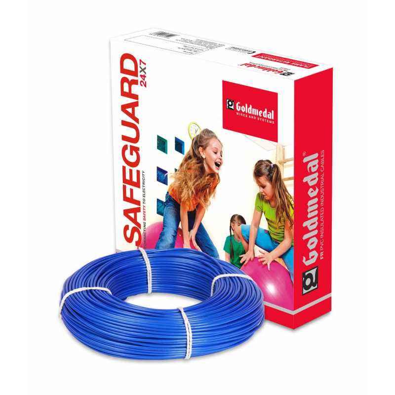 Goldmedal 90m 6 Sq mm Blue FR PVC Wire