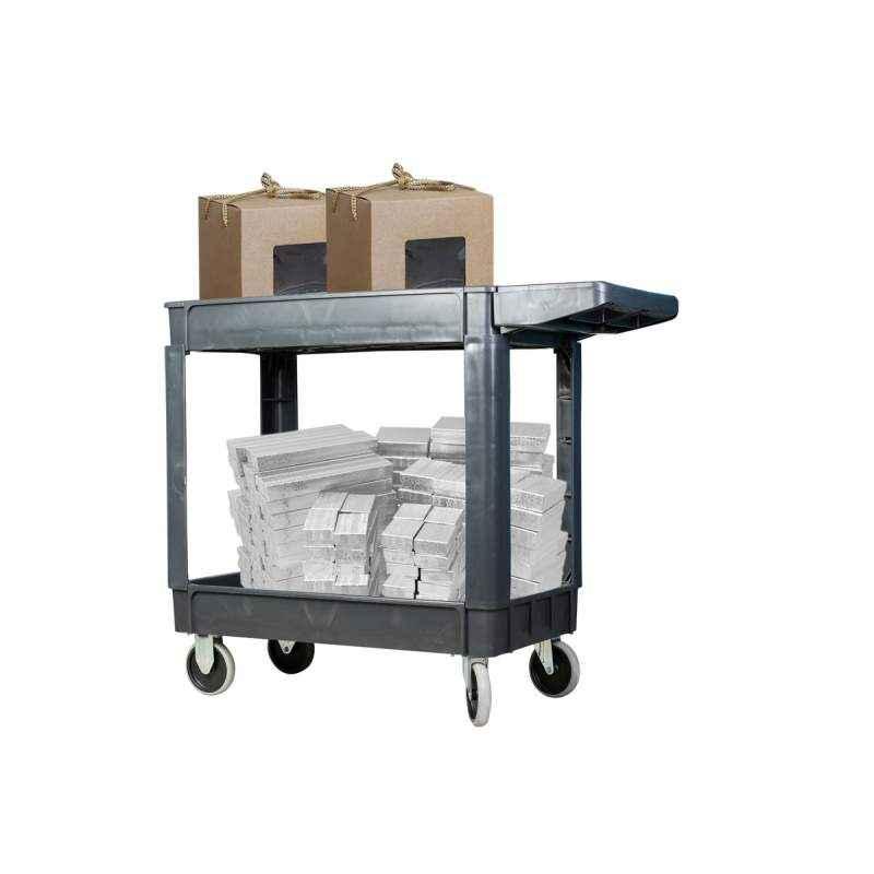 Bigapple 300kg Capacity Double Platform Tool Cart, SC2500D