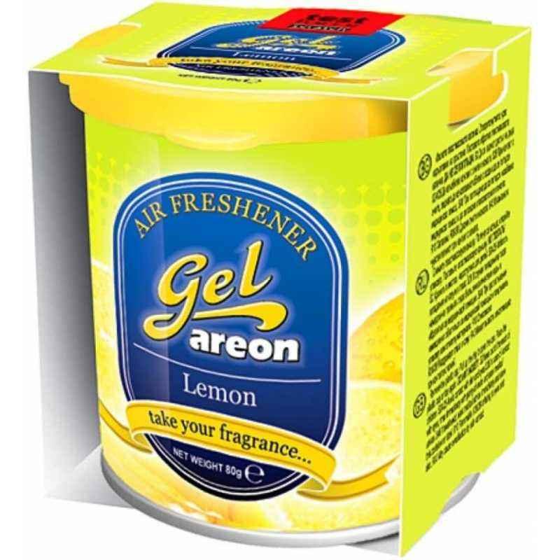 Areon 80g Lemon Gel Air Freshener for Car