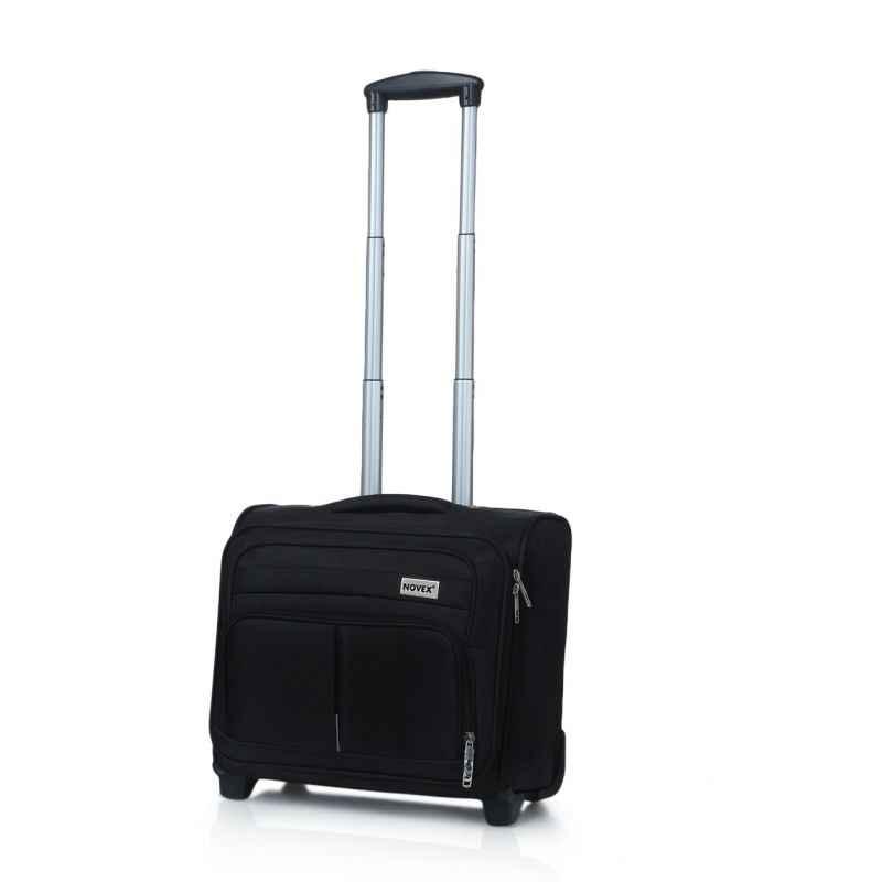 Novex Polyester Black Overnighter Trolley Bag