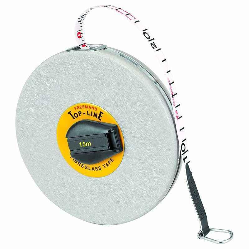 Freemans 15 m Fibreglass Top Line Measuring Tape, FT15 (Pack of 5)