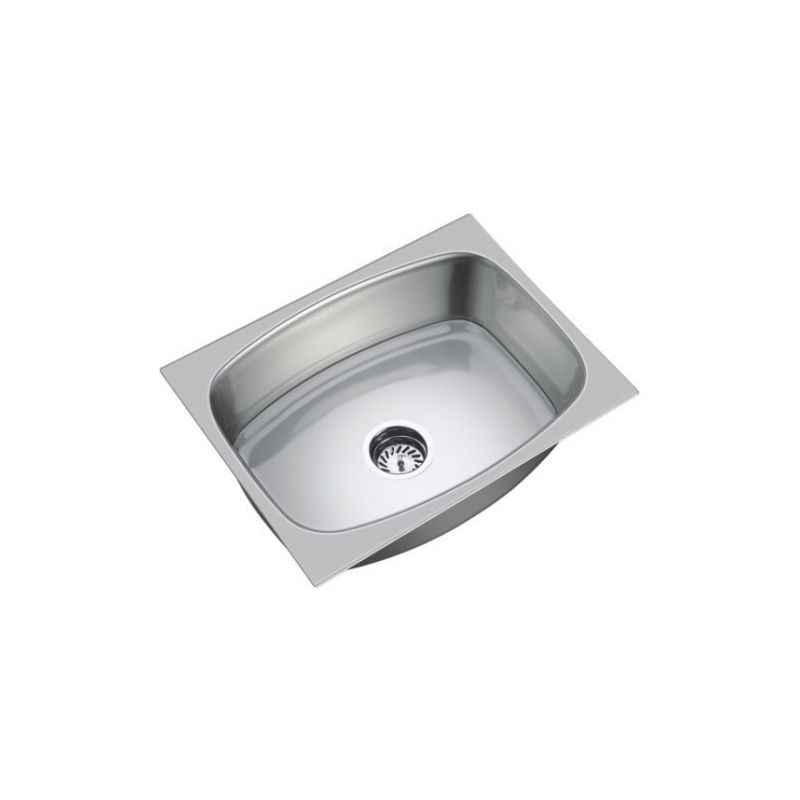 SteelKraft SS-101 Single Bowl Stainless Steel Sink, Size: 16x14 inch