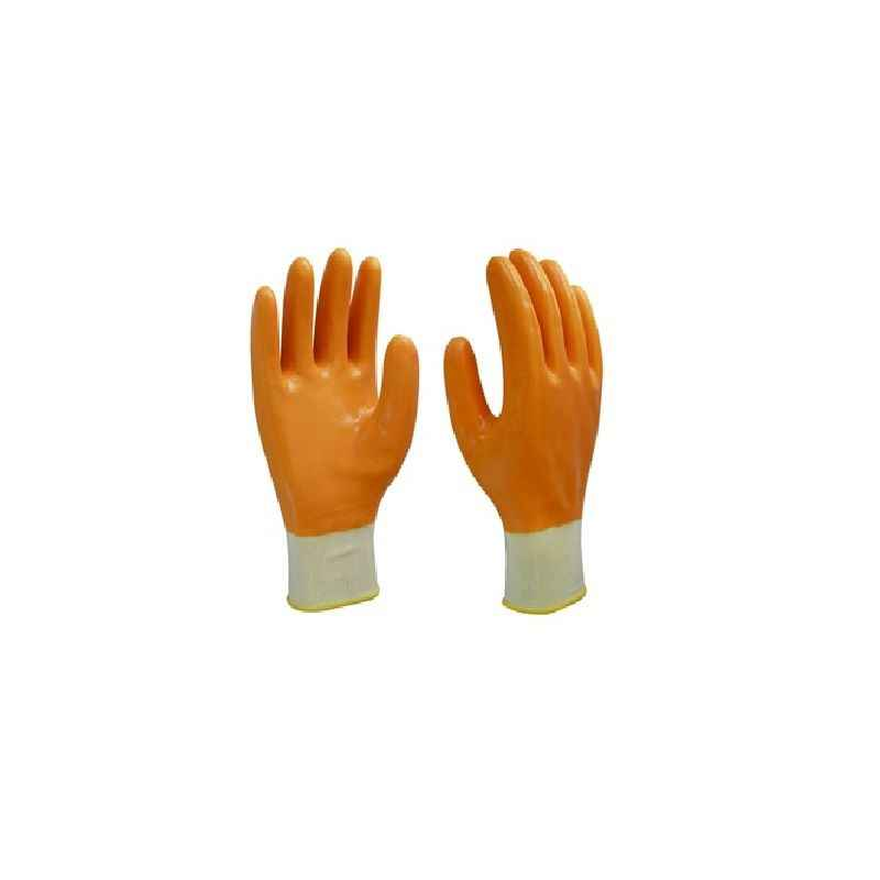 Gripwell Yellow Nylon Shell PVC Coated Gloves (Pack of 20)