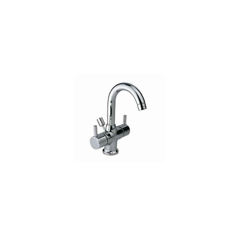 Jaquar Florentine Chrome Plated Angular shaped Bathroom Faucet with Wall Flange, FLR-5037N